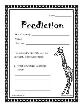 Giraffes Can't Dance Worksheets by Patricia Watson   TpT