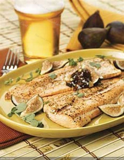Wood-Grilled Trout with Mission Fig Compound Butter Recipe