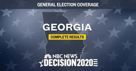 Georgia presidential election results 2020: Live results