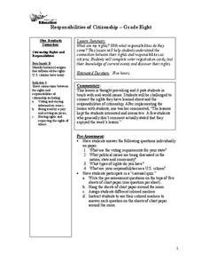Responsibilities of Citizenship Lesson Plan for 8th Grade