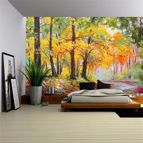 wall26 - Oil Painting Landscape - Colorful Autumn Forest