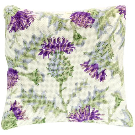 Cleopatra's Needle Thistle Pillow Tapestry Kit at John Lewis