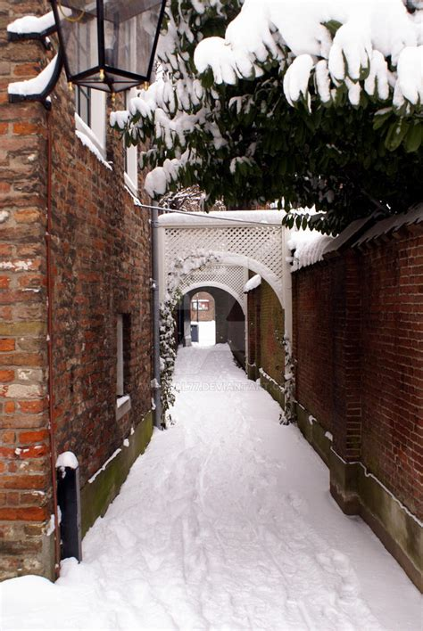Medieval alley in winter by amstaal77 on DeviantArt