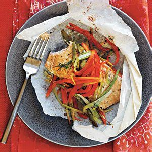 Arctic Char and Vegetables in Parchment Hearts | Recipe