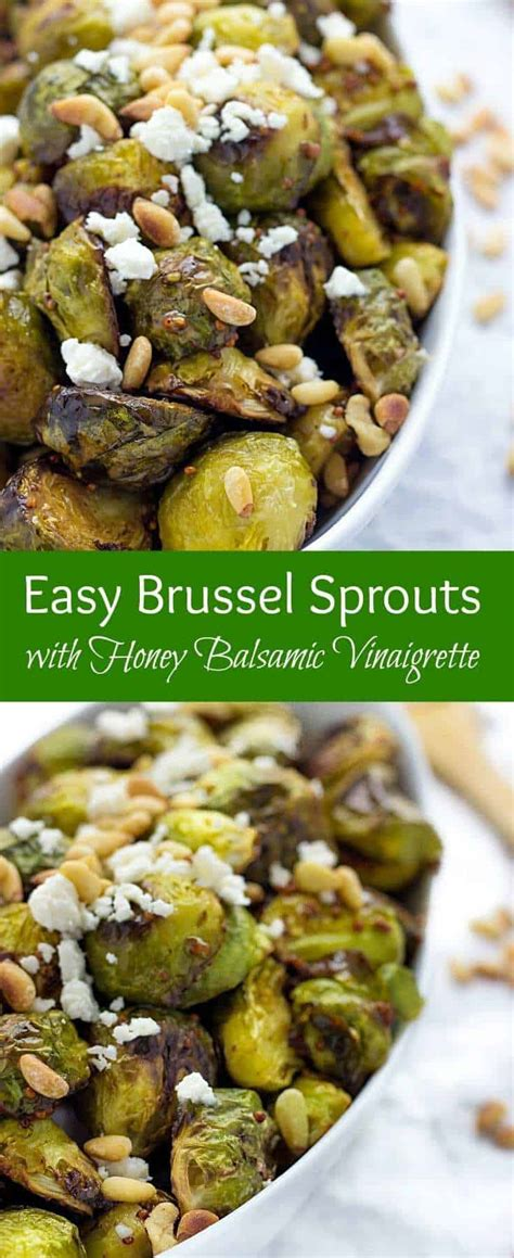 Easy Brussels Sprouts With Honey Balsamic Vinaigrette