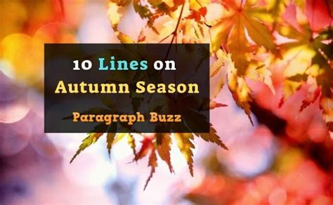 10 Lines on Autumn Season in English for Class 1 to 10