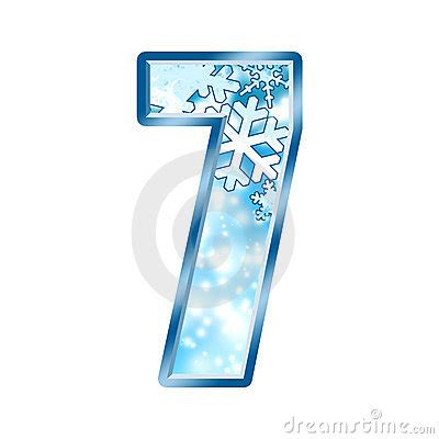 Winter Alphabet Number 7 Seven Royalty Free Stock Image