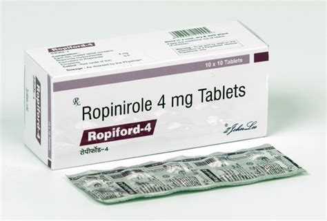 Ropinirole Hydrochloride Tablets, 10x10 Tabs, Ambica