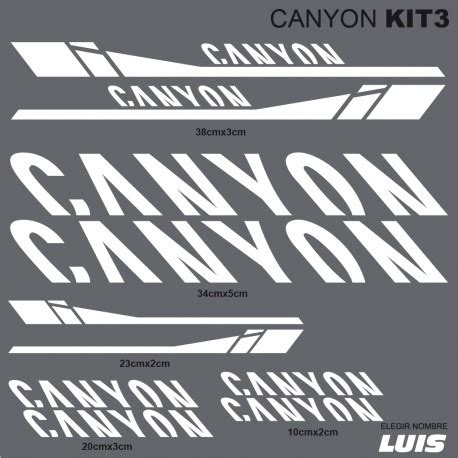 CANYON kit3 stickers for bike, vinyls, decals, stickers