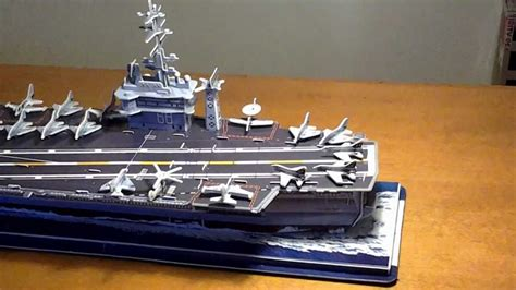 Aircraft Carrier 3D Puzzle Time-lapse - YouTube