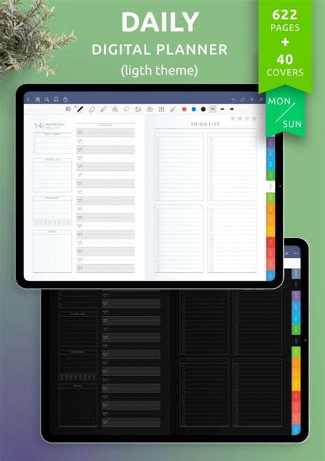 Daily Planner Templates Printable - Download PDF