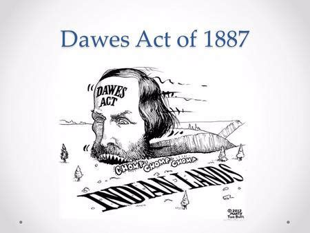 The Dawes Act of 1887 – Site Title