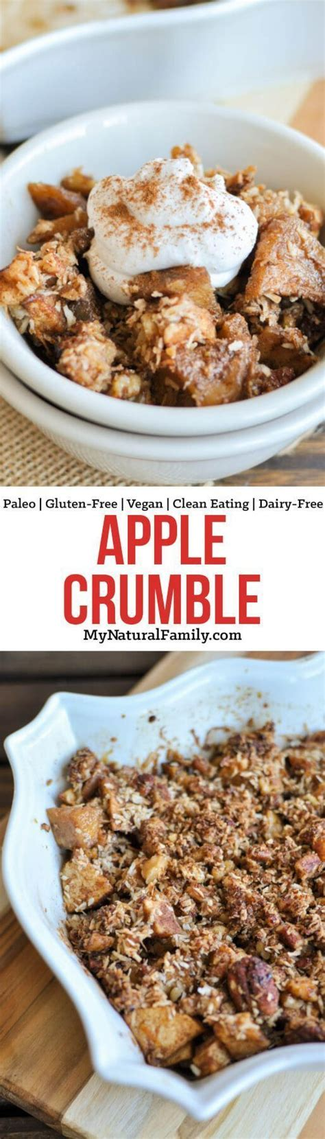 This Paleo apple crumble is a healthy dessert made without