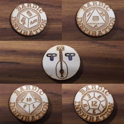 Bardic Inspiration Coin Set - Custom Processing Unlimited