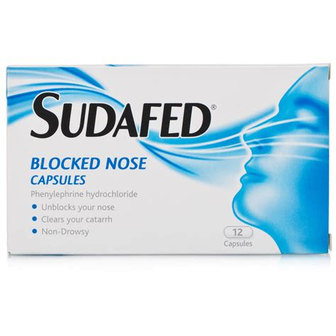 Sudafed Blocked Nose Capsules 12caps | Pharmacy Requirements