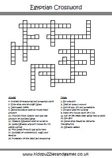 Puzzle Sheets - Crossword - Kids Puzzles and Games