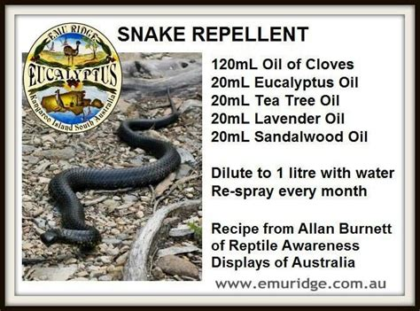 Anything to keep those snakes away !!- I don't even live